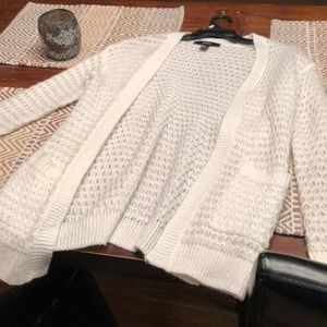 Forever 21 white cardigan sweater